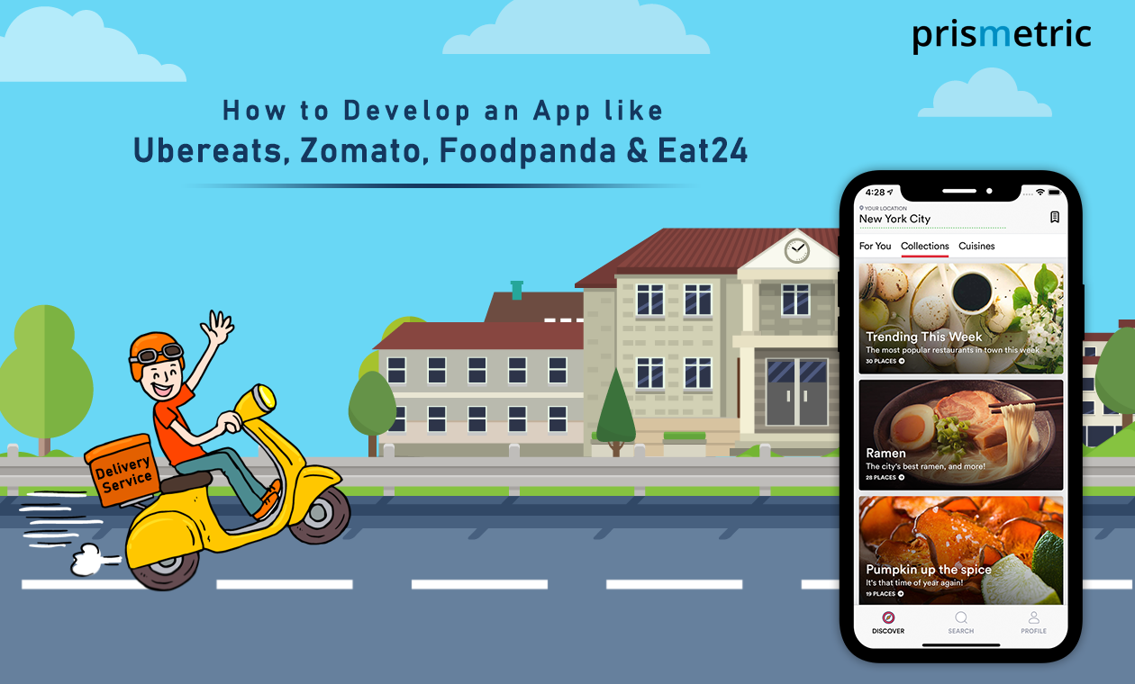 Cost to develop an App like Ubereats Zomato Foodpanda