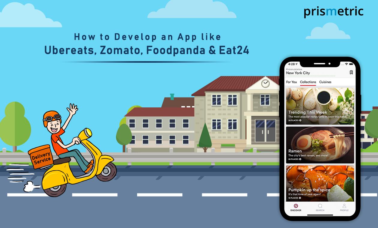 Cost to develop an App like Ubereats Zomato Foodpanda
