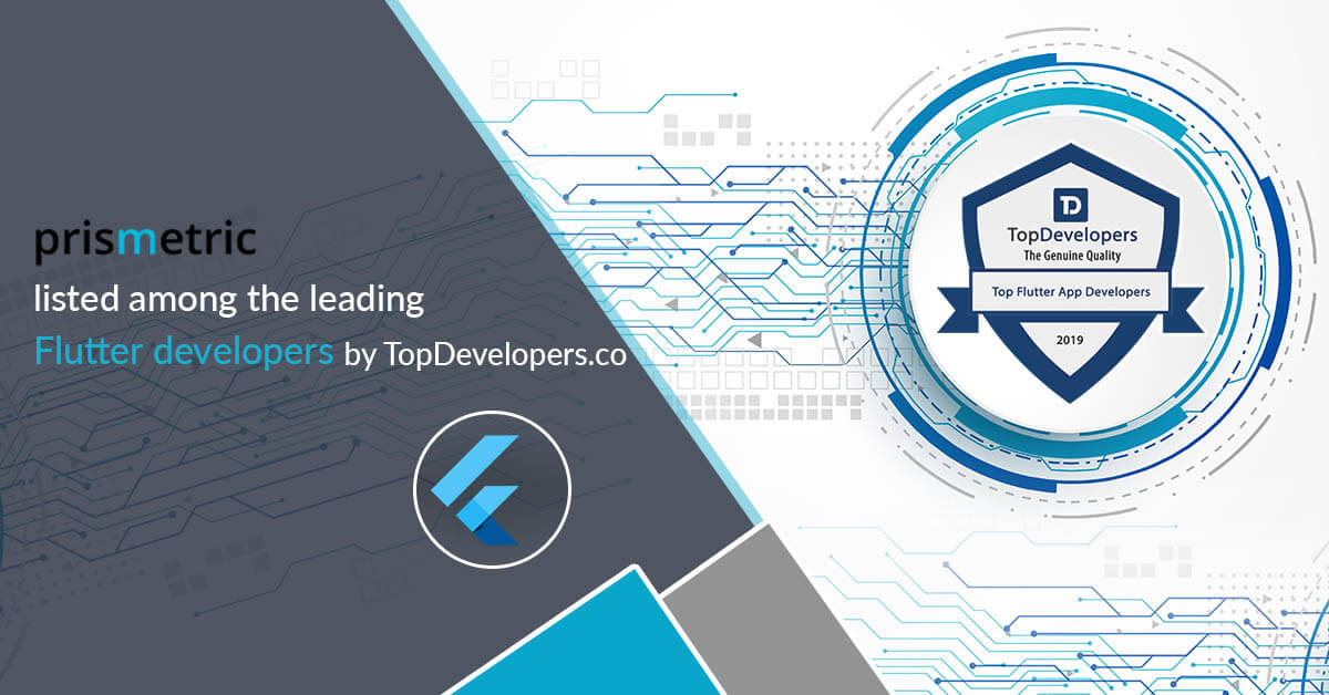 Prismetric listed among top Flutter developers by TopDevelopers.co
