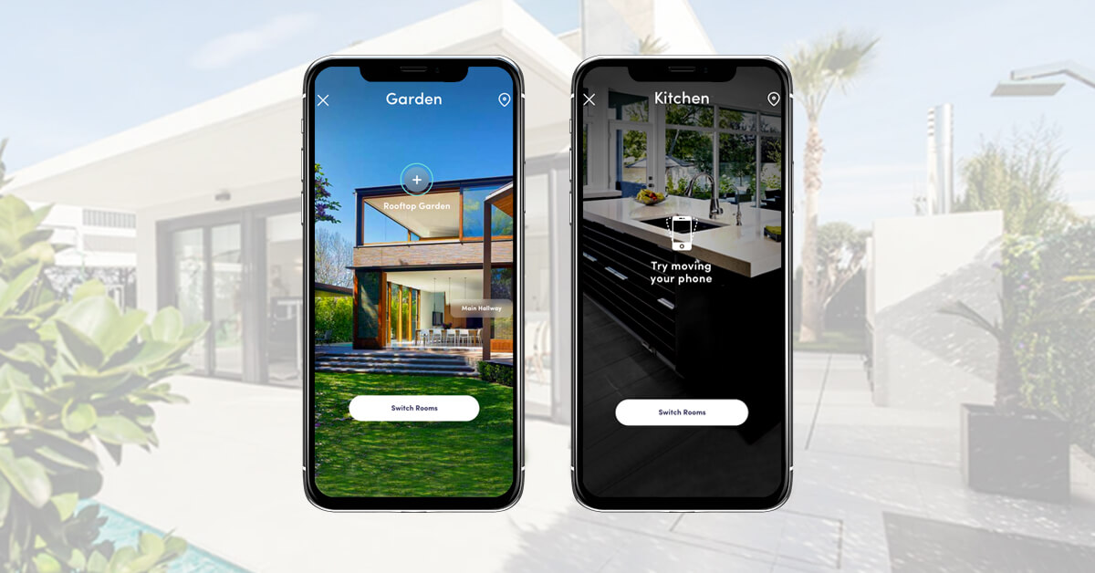 Real Estate App Screenshots with AR technology