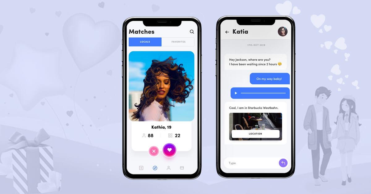 5. Advanced features for a dating app (2 mock screens of advanced features) (1)