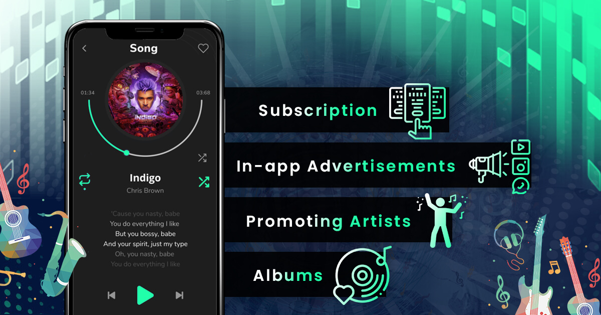 Monetization of music streaming app