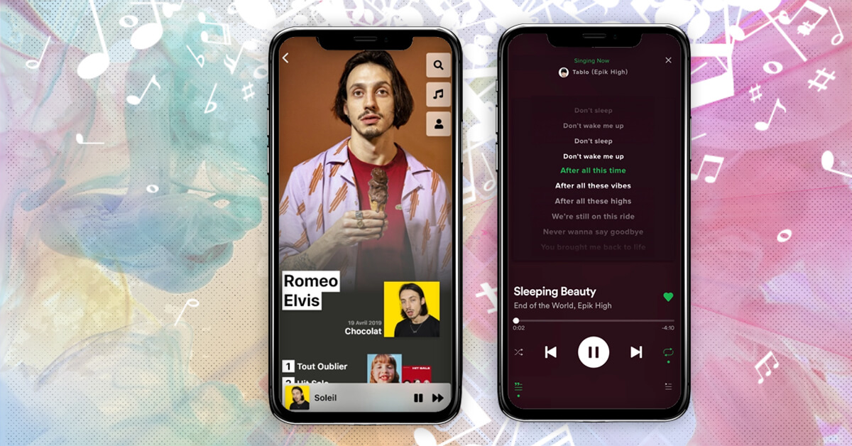 Advanced features of Music Streaming App