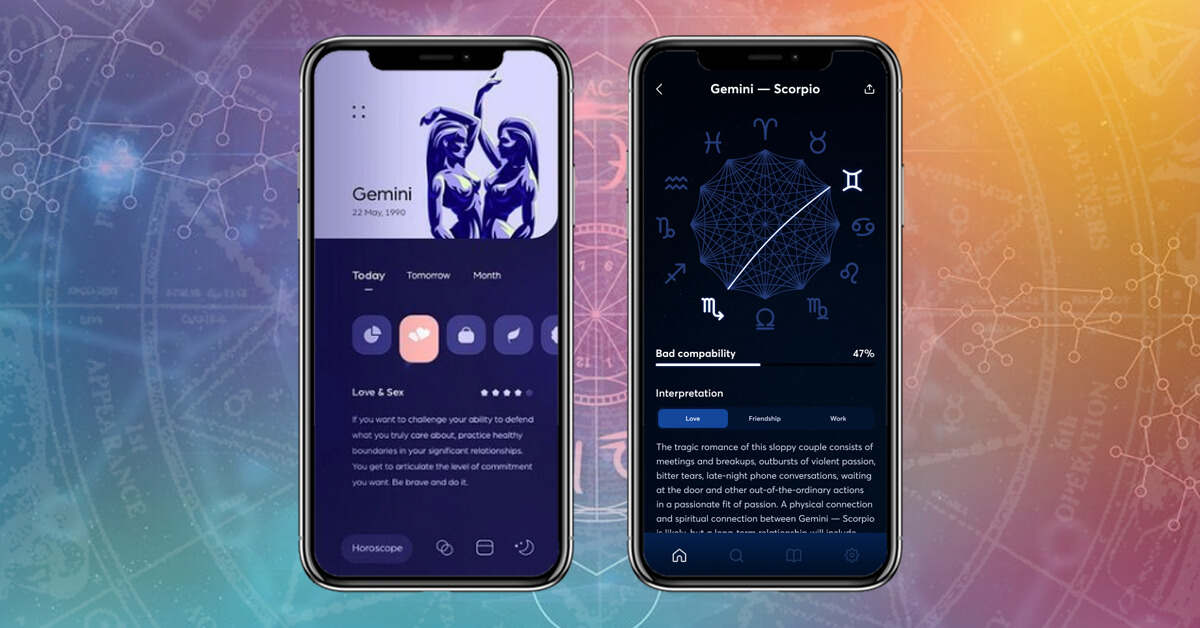different-screen-of-Astrology-App-with-basic-features