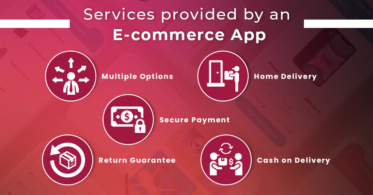 Services provided by an E-commerce App