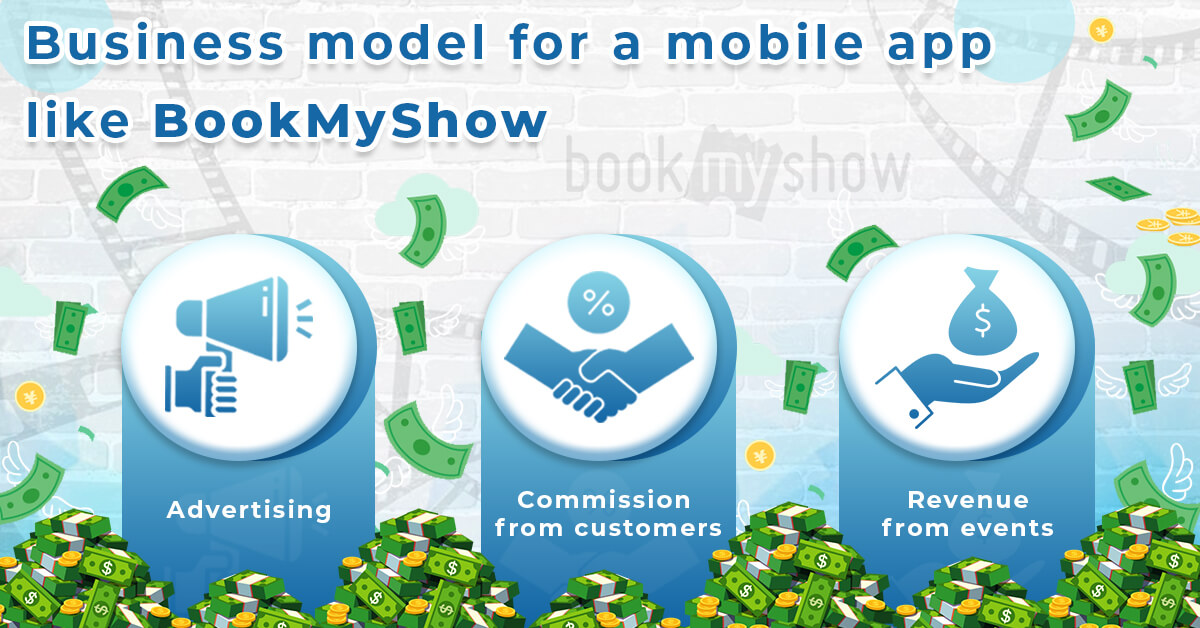 Business model for a mobile app like BookMyShow