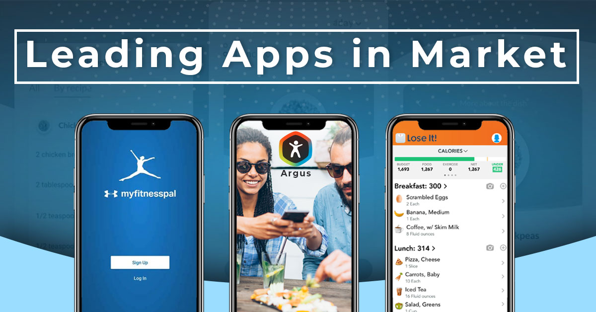 Leading diet and health Apps in Market