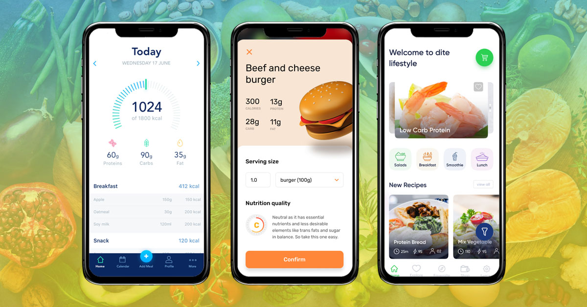 screen with a little advanced features for Diet & Nutrition Tracking App