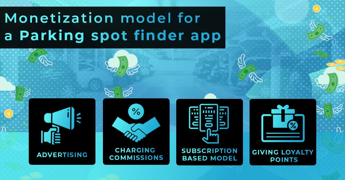 Monetization model for a Parking spot finder app