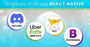 Startups that use React Native (Discord, Uber Eats, Wix, Bloomberg)
