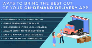 Ways to bring the best out of your on-demand delivery app