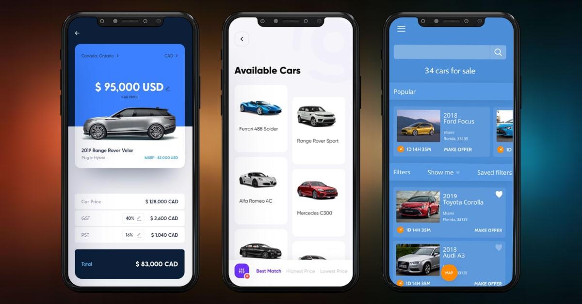 Advanced features of car auction app