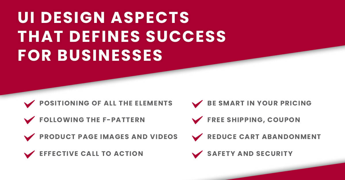 Tips for ecommerce UI Design for business success