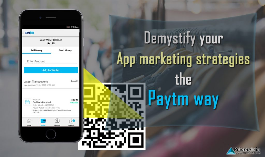 app marketing strategies like Paytm