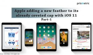Apple adding a new feather to its already coveted cap with iOS 11 (Part – 1)