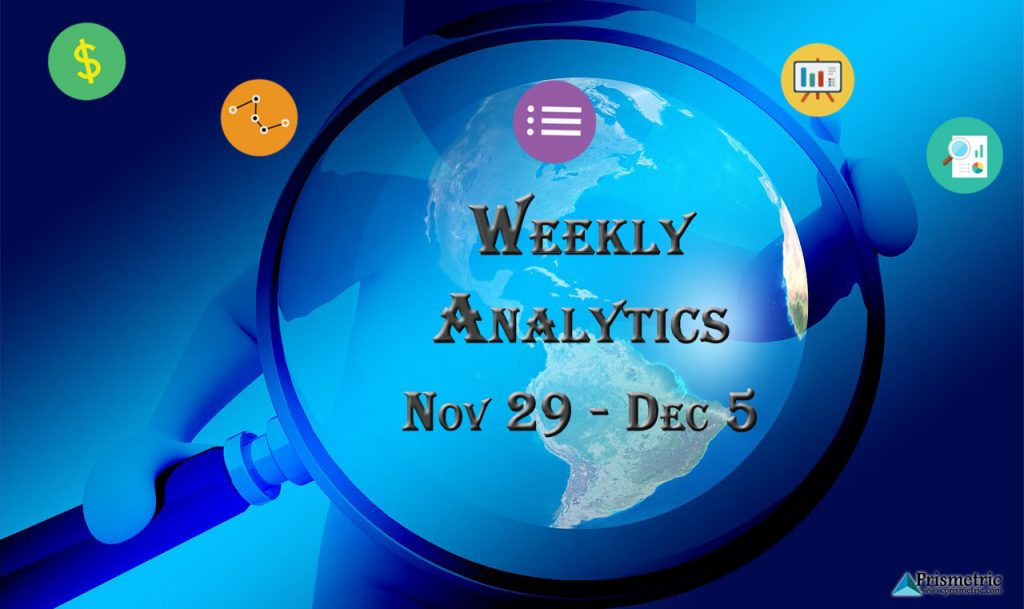 Prismetric's 22nd weekly analytics nov 29 - dec 5