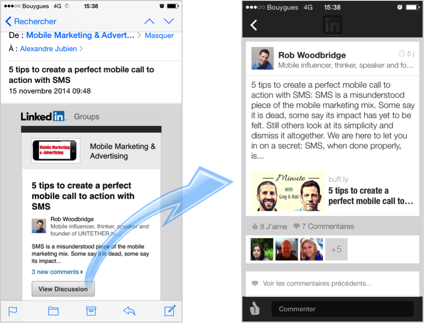example of deep linking