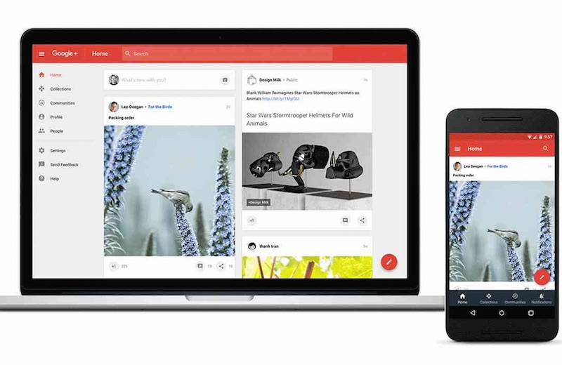 Google Plus Redesigned